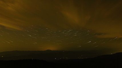 Time Lapse of Star Trails Over Mount Hood in Portland OR
