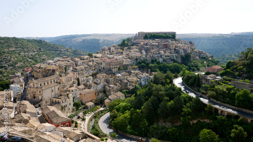 canvas print picture Panorama von Ragusa