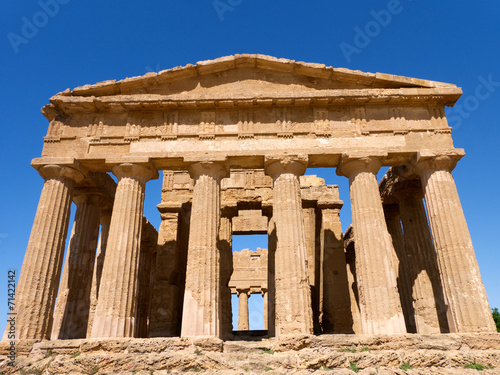 canvas print picture griechischer Tempel in Agrigento
