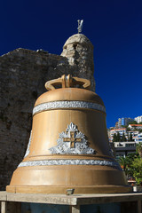 bell of the old town of Budva, established after the earthquake