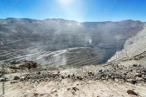 Foto Spatwand Zuid-Amerika land Chuquicamata Mine View