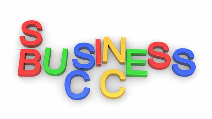 Animated words Business and Success