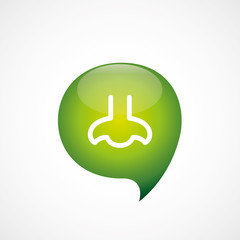 nose icon green think bubble symbol logo.