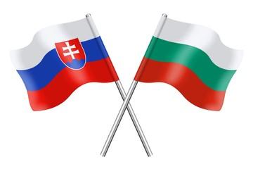 Flags: Slovakia and Bulgaria