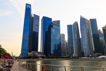 Buildings in Singapore city, Singapore - 13 September  2014