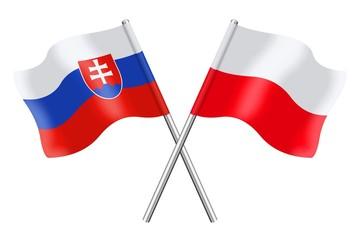 Flags: Slovakia and Poland