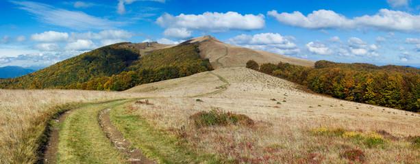 landscape of autumn mountains
