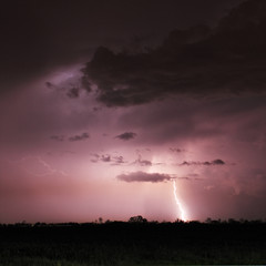 Lightning bolts and storm