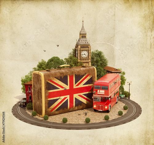 Papiers peints Londres London traveling concept