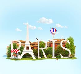 Word Paris on the square