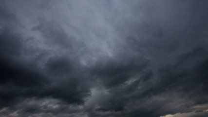 Background of storm clouds before a thunder-storm. Timelapse