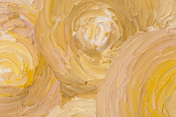 Close up of beautiful abstract oil painting.