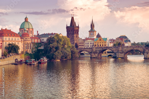 Foto op Canvas Praag Charles Bridge in Prague, Czech Republic