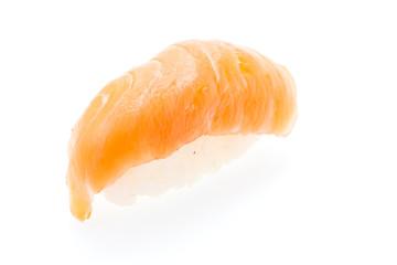 Salmon sushi isolated on white