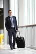 businessman travel with trolley