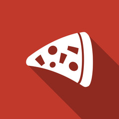 pizza icon with long shadow