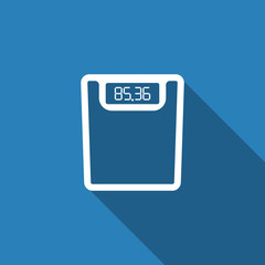 weighting apparatus icon with long shadow