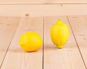 Lemons on the wooden desk