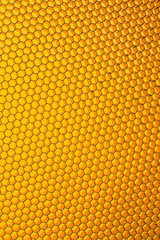 Honeycomb grid against yellow background
