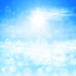 Winter sunny day background