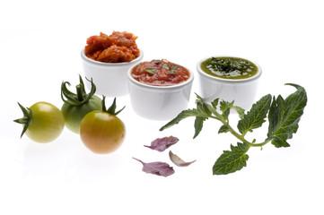 Tomaten-Paprika-Dip, Tomaten-Knoblauchdip, Kräuterdip