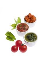 Tomaten-Paprika-Dip, Tomaten-Knoblauch-Dip, Kräuter-Dip
