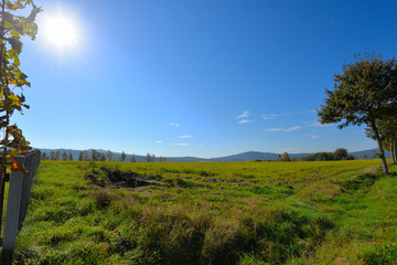 Herbst Landschaft Sonne
