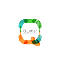 Minimal Q font or letter logo design