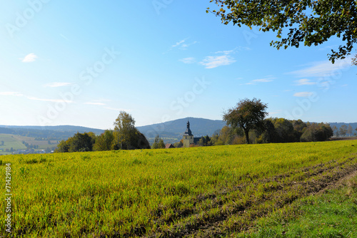 canvas print picture Herbst Landschaft Sonne