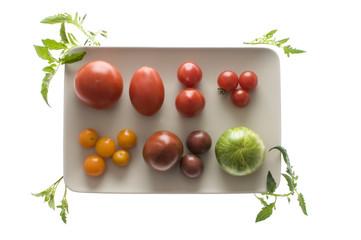 Verschiedene Bio-Tomaten