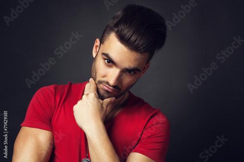 Fototapeta Male beauty portrait