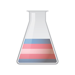 chemical test tube with a transgender pride flag