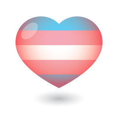heart with a transgender pride flag