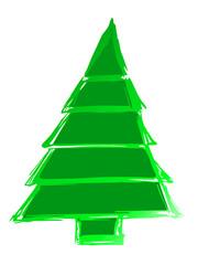 leuchtend grüner Tannenbaum...