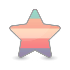 star with a transgender pride flag