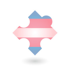 puzzle piece with a transgender pride flag