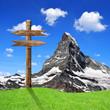 Beautiful mount Matterhorn - Swiss alps