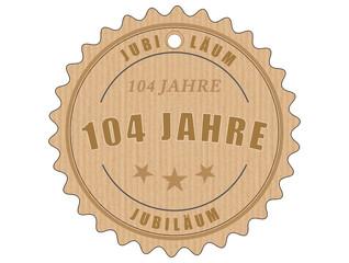 je104 JubiläumsEtikett 104 - vintagedesign - 104 Jahre - g2004