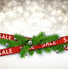 Sale christmas background.