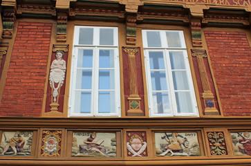 Alte Lateinschule in Alfeld/Leine: Ausschnitt Fassade
