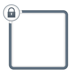 vectorframe for any text with padlock
