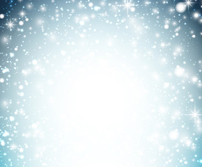 Christmas background with crystallic snowflakes.