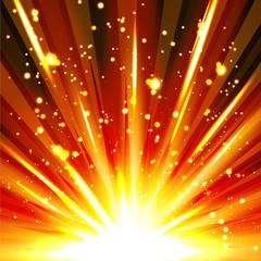 Explosion, abstrakt, Feuerwerk, Silvester, Partikel, Sparkling