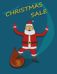 Christmas sale with Santa Claus