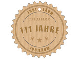 je111 JubiläumsEtikett 111 - vintagedesign - 111 Jahre - g2011