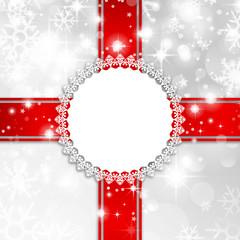 Karte Schnee Schild Ornament