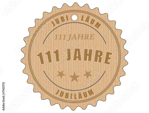 Fotobehang Retro je111 JubiläumsEtikett 111 - vintagedesign - 111 Jahre - g2011