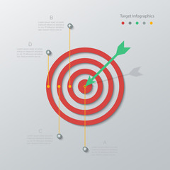 paper target infographics