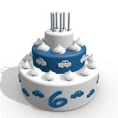 Verjaardag cake voor jongen van zes