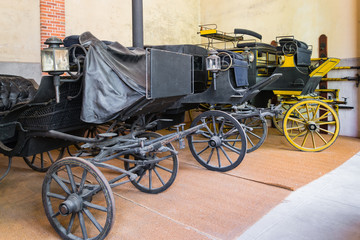 Carriages in the castle of Chaumont sur ​​Loire - France